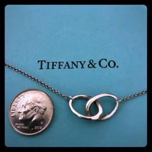 Tiffany & Co Silver Peretti Interlocking Necklace